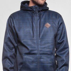 Men's Burton Active Zip Up Sweatshirt Bonded HD